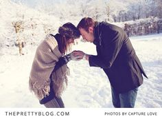 """Perhaps it is because we do not often get to see real snow here in South Africa, but there is something very mystical and yet so utterly romantic about this white powdery setting that gets us feverishly excited when looking at the """"love shoot'' of Diederik and Vera. The couple braved the cold for the perfect picture in the small town of Bunschoten-Spakenburg in the Netherlands. Without needing to elaborate any further, Capture Love's images illustrated the day beautifully."""