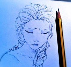 Really good Elsa drawing