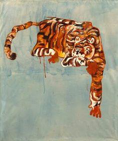 #piękny #obraz #z #pieknym #tygrysem  #painting #tiger   Szymon Szelc