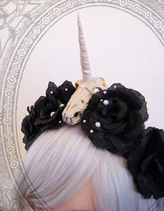 unicorn skull headband