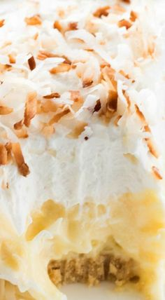 Easy No Bake Coconut Cream Pie