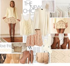 """brown chic.;]"" by sasskia ❤ liked on Polyvore"