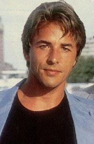Don Johnson  This pic is from the 80's from Miami Vice.  He was so hot then, now....not so much!!