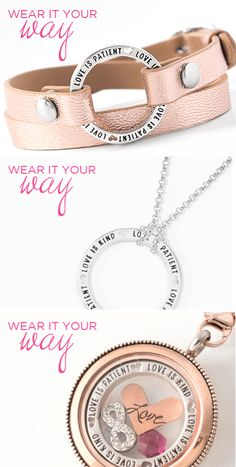 Origami Owl #Love Is Patient Window Frame Wear it in a #locket, on a chain, or on a wrap bracelet. www.cathygough.origamiowl.com  #OrigamiOwl #gifts #ValentinesDay