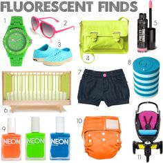 Fluorescent finds: Neon for mom and baby.