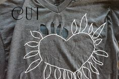 WobiSobi: Heart Cut-out Shirt, DIY