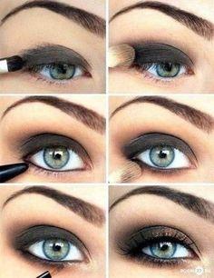 gold & black Smoky eyes