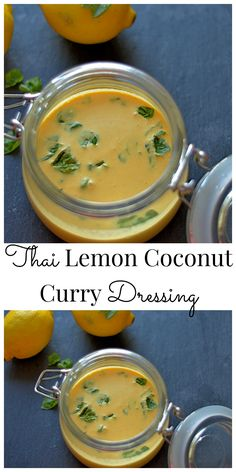 Lemon Coconut Curry Dressing Simple & delicious dressing to compliment any salad or Thai dish!Simple & delicious dressing to compliment any salad or Thai dish! Sauce Recipes, Asian Recipes, Real Food Recipes, Vegetarian Recipes, Cooking Recipes, Healthy Recipes, Ethnic Recipes, Gf Recipes, Cooking Tips