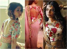 Floral print saree blouses