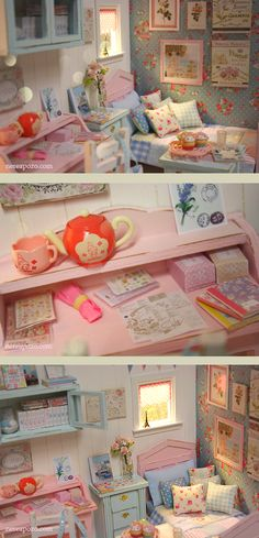 Tender awakening ooak miniature dollhouse diorama Room