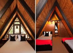 A Sense of Humor - House Tour: 1969 California A-Frame Updated for Today - Bob Vila A Frame Cabin, A Frame House, Design Loft, House Design, Triangle House, Tiny House Cabin, Cabins In The Woods, My Dream Home, House Tours