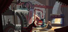 Stunning Frozen Concept Art Reveals The Snow Queen You Didn't See Tangled Concept Art, Disney Concept Art, Disney Art, Disney Stuff, Wreck It Ralph, Hans Christian, Animation Background, Art Background, Frozen Art