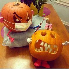 Eine weitere Dekoidee für Halloween - zum Thema Zahnmedizin