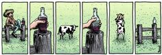 Wine and cows, bad combination