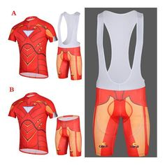 Bicycle Jerseys Iron Man Cycling Jerseys Bike Short Sleeve Clothing Set Bicycle Men Wear Suit Jersey Bib Shorts Jersey + Shorts Cycling Bibs From Archerslove, $15.21| Dhgate.Com