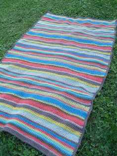 Striped Afghan by smithsoccasional, via Flickr