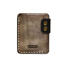 Leather Wallet in Waxed Brown Men wallet by by LeatherPall on Etsy