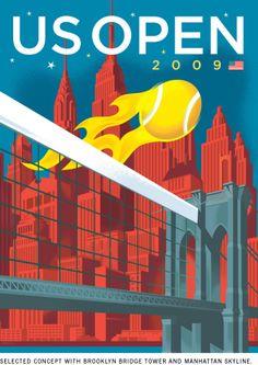 2009 US Open Theme Art by Paul Rogers