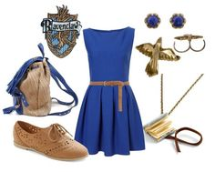 Casual Ravenclaw outfit, because that's the house I'm from, of course. Harry Potter Style, Harry Potter Facts, Harry Potter Dress, Harry Potter Hermione, Harry Potter Cosplay, Harry Potter Outfits, Harry Potter Fandom, Themed Outfits, Inspired Outfits