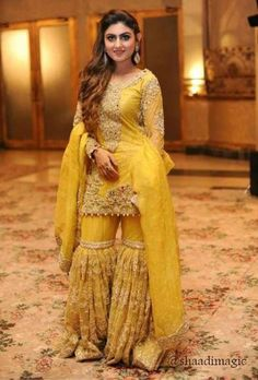 Exclusive Trendy Designer Yellow and Firoze Wedding Lehenga 20485 Pakistani Formal Dresses, Pakistani Wedding Outfits, Pakistani Wedding Dresses, Pakistani Dress Design, Indian Dresses, Indian Outfits, Pakistani Clothing, Indian Wedding Wear, Bollywood Wedding