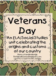 Lesson Plan Ideas - First Grade Wow: Veterans Day mini unit
