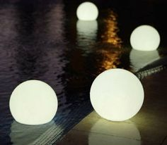 Chill Lite Bubbles – Floating Light Globes, $185
