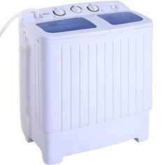 Giantex Portable Mini Compact Twin Tub Washing Machine Washer Spin Cycle – The Best Washer & Dryer Washing Machine Reviews, Washing Machine And Dryer, Washing Machines, Portable Washer And Dryer, Stackable Washer And Dryer, Mini Washer And Dryer, Walk In Bathtub, Bathtub Drain, Campers