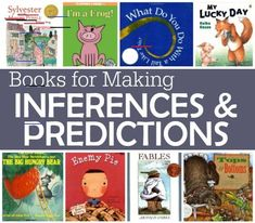 Making inferences and predictions are highly related comprehension strategies. In fact, most books for teaching comprehension lump them together. For the younger child or . Predicting Activities, Inference Activities, Reading Activities, Reading Resources, Guided Reading, Reading Groups, Close Reading, Therapy Activities, Therapy Ideas