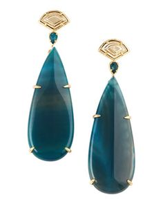 Blue Agate Earrings  by Kendra Scott at Last Call by Neiman Marcus.