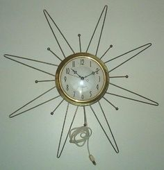 Uncle Atom: Project: Converting a vintage starburst wall clock to run on batteries
