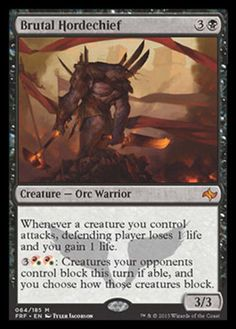 Brutal-Hordechief-x1-Magic-the-Gathering-1x-Fate-Reforged-mtg-mythic-rare