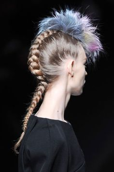 Fall Hair Trends to Try: Braids revisited at Fendi (don't forget the punk element!)