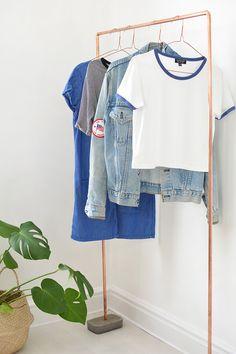 DIY | copper clothes rail