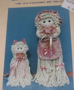 patterns for christmas mop dolls | mop doll