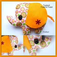 Olifantje van vilt. #Elephant Felt #Elefante de feltro