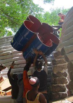 Clube do Concreto: Casa de Earthbag no Haiti com passo a passo
