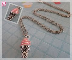 Ice Cream Cone Necklace by pinxjewelry on Etsy, $15.00