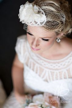 Handmade bridal fascinator incorporating some of the dress material, silk flowers and delicate birdcage Bridal Fascinator, Timeless Elegance, Silk Flowers, Delicate, Elegant, Handmade, Wedding, Dresses, Fashion