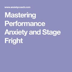 64 Best Performance Anxiety Images On Pinterest Public Speaking