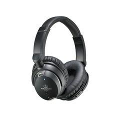 Audio-Technica ATH-ANC9. Fones de ouvido internos: Circumaural. Estilo Faixa de cabeça. Frequência: 10 - 25000 Hz, Sensibilidade: 100 dB, Unidade de driver: 4 cm. 3.5 mm conector, Comprimento do cabo: 1,2 m. Duração da bateria (máx.): 30 h. Peso: 220 g