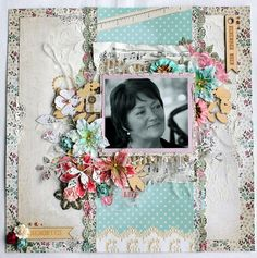 Using one of the new April releases from Kaisercraft - Needle & Thread Scrapbook Blog, Vintage Scrapbook, Scrapbooking Layouts, Scrapbook Pages, Music Paper, Something To Remember, Easel Cards, Needle And Thread, I Card
