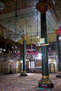 inside a sufi shrine in srinagar
