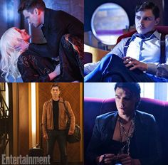 Cast of American Horror Story Hotel ~ Matt Bomer, Evan Peters, Wes Bentley, and Finn Wittrock