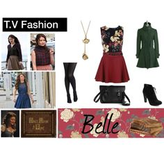 """T.V Fashion: Once Upon A Time (Belle)"" by mayrabarragan on Polyvore"