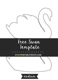Free Swan Template - Medium Size
