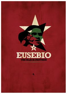 eusebio poster illustration 15 Cool Illustrations of Famous Football Players Football Design, World Football, Football Soccer, Football Players, Messi And Ronaldo, Soccer Poster, Image Fun, Soccer Quotes, Sports Art