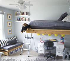 DIY: Loft Bed & Pallet Reading Couch   S t a r d u s t - Decor & Style