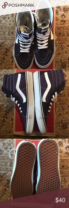 418ec01bd40b8e Hi Nightshade Vans Hi Nightshade Vans - Hardly worn - Size 10 Vans Shoes  Sneakers