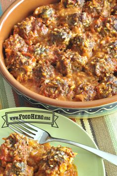 Easy Meatballs | Food Hero - Healthy Recipes that are Fast, Fun and Inexpensive. I think Roby will like this!