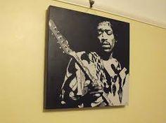 jimmy hendrix painting - Google zoeken Guitar Painting, Google